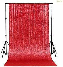 ShinyBeauty Rot 125x215cm Pailletten Tischdecken