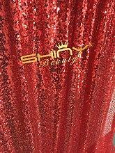 ShinyBeauty Rot Pailletten Hintergrund Pailletten Foto Booth Party Weihnachts-Dekoration Hochzeit-600x300cm