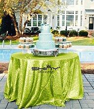 shinybeauty sequin-tablecloth-round-120 mint green f¨¹r die hochzeitsfeier tischdecke bankett - tisch