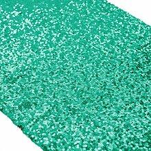 ShinyBeauty Tischläufer mit glitzernden Pailletten für Hochzeit/besondere Anlässe, 30x180cm, verschiedene Farben erhältlich, Christmas Green, 30x180cm