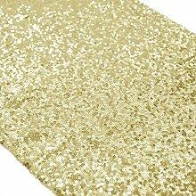 ShinyBeauty Tischläufer mit glitzernden Pailletten für Hochzeit/besondere Anlässe, 30x180cm, verschiedene Farben erhältlich Light Gold Color