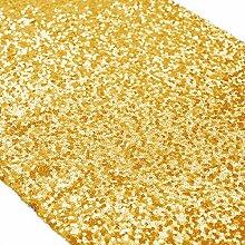 ShinyBeauty Tischläufer mit glitzernden Pailletten für Hochzeit/besondere Anlässe, 30x180cm, verschiedene Farben erhältlich Gold Color