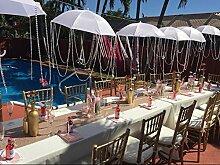 ShinyBeauty Tischtuch Pailletten 40cmx260cm Pailletten-Tischdecke als Dekoration Hochzeiten, Leinen, champagner farben, 40x260cm,18 Pieces