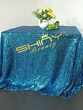 shinybeauty türkis 177,8x 264,2cm Rechteck Pailletten Tischdecke Wunderschön und Luxus Tischdecke hot sale
