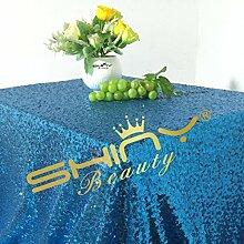 Shinybeauty Türkis Pailletten Tischdecken für Hochzeit/Party - 60 x 102-Zoll (150x260cm)