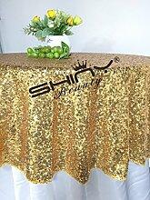 shinybeauty Verkauf 182,9cm rund gold Pailletten Tischdecke champagner Pailletten Tischdecke Großhandel von Pailletten Tischdecken Pailletten Linens Pailletten Gold Pailletten