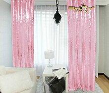 ShinyBeauty Vorhang mit Pailletten, Vintage, Hintergrund für Hochzeit/ Dekoration, 92 x 245 cm, Silberfarben, Bush Pink, 3FTX8FT