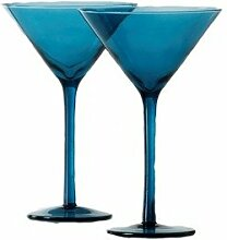 Shiraleah Blue Venezia Martiniglas, 4 Stück