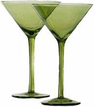 Shiraleah Green Venezia Martiniglas, 4 Stück