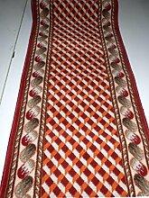 Shiraz Läufer nach Maß Karo Terra Rot Meterware B/100cm Küchenläufer Teppich lfm. 16,90 Euro 100 x 340 cm