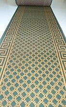 Shiraz Läufer nach Maß lfm. 11,90 Euro Grün Beige Küchenläufer Flur Meterware Breite 70 cm Teppich Passende Stufenmatten Treppe 70cm x 200cm