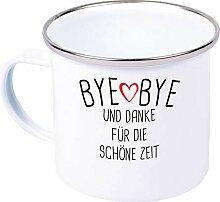 Shirtinstyle Emaille Becher, Bye Bye Und Danke