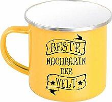 Shirtinstyle Emaille Kaffeepott Tasse Beste