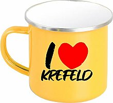 Shirtinstyle Emaille Kaffeepott Tasse I Love