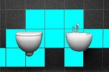 ShirtInStyle FLIESENAUFKLEBER Fliesen Folien Aufkleber Bad Küche Spiegel Renovieren 15x15cm 485Stück
