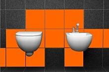 ShirtInStyle FLIESENAUFKLEBER Fliesen Folien Aufkleber Bad Küche Spiegel Renovieren 15x15cm 60Stück