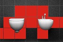 ShirtInStyle FLIESENAUFKLEBER Fliesen Folien Aufkleber Bad Küche Spiegel Renovieren 10x10cm 96Stück