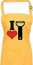 Shirtinstyle Kochschürze Latzschürze I Love