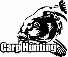 Shirtstown Auto Aufkleber Carp Hunter Angeln Karpfen, fischen, Fischer, Angler