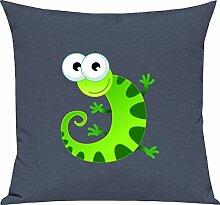 Shirtstown Kinder Kissen, Gecko Leguan Eidechse