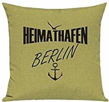 Shirtstown Sofa Kissen, Heimathafen Berlin, Farbe
