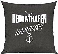 Shirtstown Sofa Kissen, Heimathafen Hamburg, Farbe