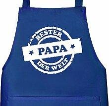 Shirtstreet24, Bester Papa der Welt Stempel,