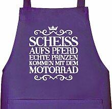Shirtstreet24, Scheiss aufs Pferd, Motorrad Grillen Barbecue Grill Schürze Kochschürze Latzschürze, Größe: onesize,Lila