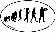 Shirtzshop Jäger Jagd Jagen Evolution Aufkleber