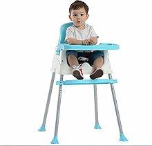 SHISHANG Große Baby Esszimmerstuhl Kinder Dining Chair Multifunktionale klappbares tragbares Babystuhl Tisch Stuhl Adjustable Kinder Umweltschutz Sichere Multicolor Wahl , blue