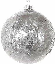 ShiShi Christbaumkugel Frost Schneeflocken 10cm