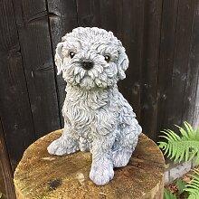 Shitzu Dekoration mit Hundefiguren - süße Hunde