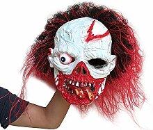 Shixing Gruselige Scary Halloween Grimasse Maske