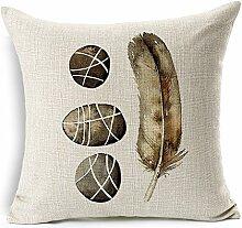 SHIYII Cotton Pillow Cotton Pillow Cotton Sofa Cushion Car Decoration,006