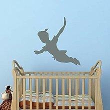 shiyueNB Fliegende Peter Pan Shadow Wandtattoos