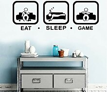 shiyueNB Heißer Eat Sleep Game Wandkunst