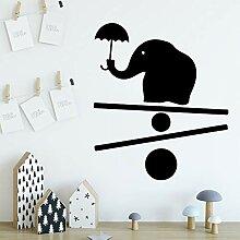 shiyueNB Niedlichen Elefanten Wandaufkleber