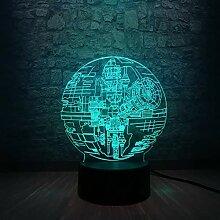 shiyueNB Todesstern 3D LED Lampe Nachtlicht mit