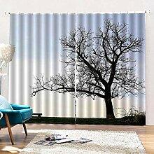 shkdif Kinderzimmer Vorhang 3D Bäume,Gardinen