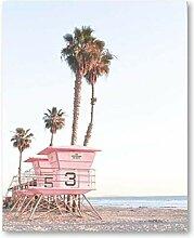 SHKHJBH Leinwandbild Pink Coast Tower Art