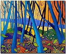SHKHJBH Leinwandbild Winterbäume Leinwandmalerei