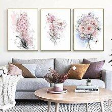 SHKHJBH Leinwandbilder Nordic Pink Rose Blossom