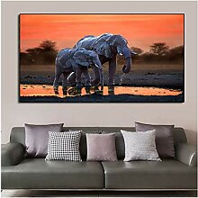 SHKHJBH Leinwanddruck Bild Wandkunst Afrikanische