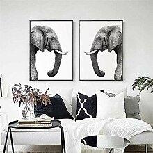 SHKHJBH Leinwandplakat Elefantentierplakat