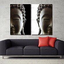 SHKHJBH Modernes abstraktes Buddha-Porträt