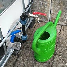 SHKV25MK34 Schwanenhals Klemmverbindung IBC-Container Zubehör-Garten-Fass-Tank-Regenwasser-Tank-Adapter-Fitting-Kanister