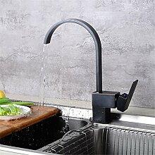 SHLONG Küchenarmatur ausziehbar schwarz heiße