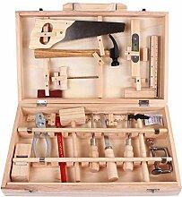 SHOH Kinder Deluxe Holz Werkzeugkoffer Mehrfarbig