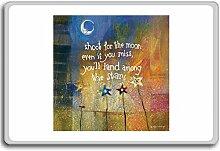 Shoot For The Moon Even If You Miss.... - Motivational Quotes Fridge Magnet - Kühlschrankmagne