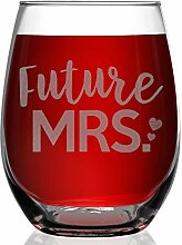 shop4ever Future Mrs. Laser Gravur Weinglas